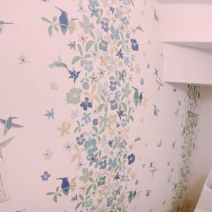 ◆トイレのクロスがとっても可愛く鮮やかになっていますよ♬