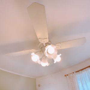 ◆1階リビング・2階主寝室にはシーリングファン照明が付いてます