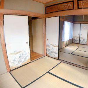 ◆最近なかなか見ない和室の通し間になっています!人がたくさん集まるときにはとっても便利です!