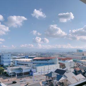 ◆9階部分からの景色は前面に遮る建物が無いので凄く良いですよ♪夜景は特に素敵です。