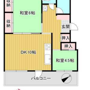 ◆コーポ泉大津 中古マンション◆ 間取り
