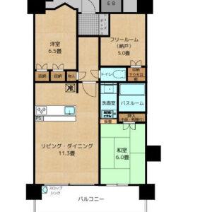 ペットと暮らせるマンションルイシャトレ岸和田春木(^^♪◆2階です。 間取り